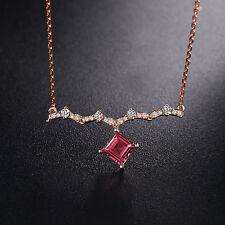 18ct Rose Gold Natural Pink Tourmaline and Diamonds Stunning Pendant