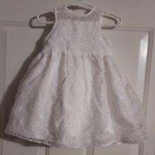 0c5573d756b68 New Infant Girl's 2pc Mia & Mimi Fresh White A Line Dress W Bottoms Size 18