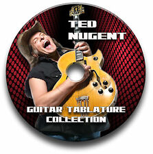 TED NUGENT HEAVY ROCK GUITAR TABS TABLATURE SONG BOOK SOFTWARE CD