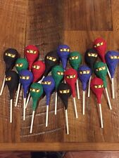 20 Ninjago Lollipops Birthday Party Supplies Favors