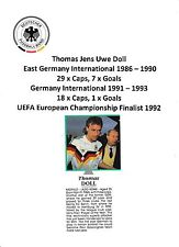 Thomas DOLL Germania International 1986-1993 ORIGINALE FIRMATO Rivista di taglio