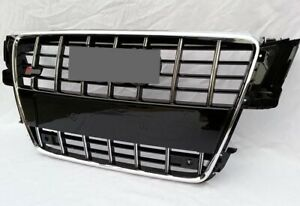 Chrome Black S5 Style Front Grill Upper Radiator Grille For Audi A5 S5 2008-2012