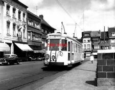 PHOTO  BELGIUM TRAMS 1959 WAVRE SNCV S TRAM  NO 9740 ON ROUTE W