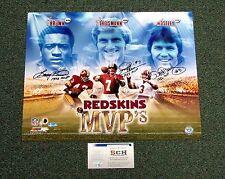 Washington Redskins MVPs Signed 16x20 Photo Joe Theismann/L. Brown/Moseley SCH