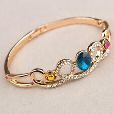 Bracciale braccialetto ORO  Strass,zircone,cristalli ,Da Donna, idea regalo B7