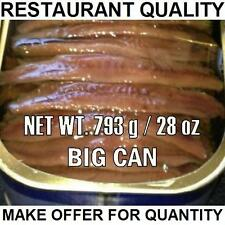 BIG Anchovy can (793gr / 28oz) Restaurant Quality ANCHOVIES FLAT FiILLETS IN OIL