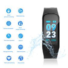 Fitness Armband Herzfrequenzmesser Tracker Bluetooth Smartwatch Schrittzähler