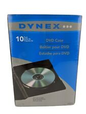 New Sealed Dynex 10 Pack DVD CD Plastic Cases With Clear Sleeves DX-DVD10
