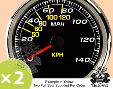 KPH Conversion stickers for MPH speedo Motorbike Car Truck Grey Import 9 COLOURS