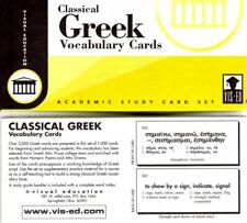 Classical Greek Vocabulary Cards by Visual Education RARE LAST OF THEIR KIND