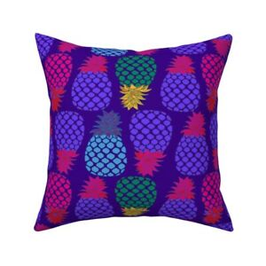Pineapple Fruit Juice Green Throw Pillow Cover w Optional Insert by Roostery
