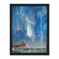 Boberg Northern Lights Aurora Borealis Painting Large Framed Art Print
