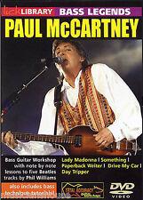 Fare clic su Libreria BASS legende Paul McCartney I BEATLES POP Riffs CANZONI CHITARRA DVD
