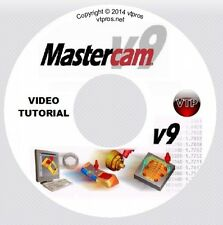 MASTERCAM v9 v8 MILL, SOLIDS, MULTI-AXIS Video Tutorial Training