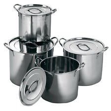 8 Piezas Grandes De Acero Inoxidable Cocina Cacerola Olla 4 Macetas + 4 Tapas Set