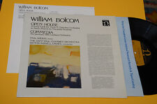 WILLIAM BOLCOM LP OPEN HOUSE ORIG USA NM CONTEMPORARY AVANTGARD