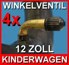 4x Schlauch 12 1/2 x 2 1/4 Zoll für Kinderwagen,Roller,Buggy, mit Winkelventil