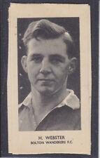 Godfrey Phillips - Rugby & Association Footballers 1952 - Webster - Bolton