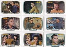 STAR TREK THE ORIGINAL SERIES 40TH ANNIVERSARY CAPTAIN PIKE INSERT SET CP1-CP9