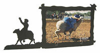 """Sheep Riding Rodeo Picture Frame 3.5""""x5"""" - 3""""x5"""" H - Mutton Busting"""