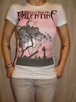 Bullet For My Valentine Dusk Graveyard White Cotton Graphic Tee Sz Juniors XS
