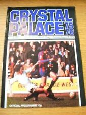 19/08/1975 Crystal Palace v Colchester United [Football League Cup] (Team Change