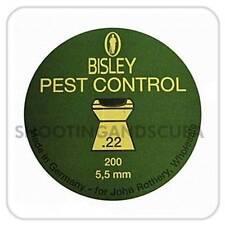 Bisley Pest Control .22 (5.5mm) ~Tin of 200 pellets for Air Gun Rifle Pistol