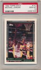 MICHAEL JORDAN 1992/93 TOPPS #141 GOLD PARALLEL CHICAGO BULLS SP PSA 10 GEM MINT