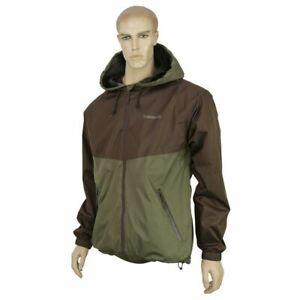 Trakker Shell Jacket Carp Fishing Green Brown Men's Coat NEW ALL SIZES  RRP £70