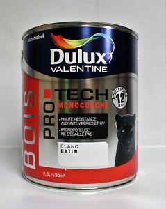 """Peinture Bois DULUX VALENTINE """"Blanc"""" 2,5 L"""