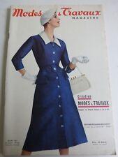 magazine Modes et Travaux n° 665 Mai 1956+ patron