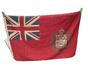 Antique 9 Province Red Ensign Flag Canada 1907-1921