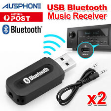 2x USB Bluetooth Audio Receiver Adaptor Wireless Music 3.5mm Dongle AUX A2DP Car