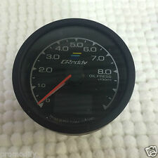 "Greddy Style 60mm 2.44"" Gauge Oil Press Pressure Colour LED Fit HKS Defi Pod"