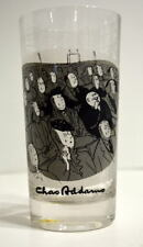 """Chas ADDAMS 5 1/2"""" GLASS Tumbler UNCLE FESTER LAUGHING At A HORROR MOVIE"""