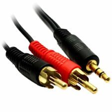 2m Meter 3.5mm Jack to 2 x RCA Cable (Twin Phono) Audio Lead Stereo Plugs GOLD