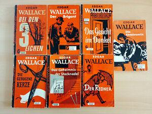 7 Taschenbücher - Edgar Wallace - Goldmann Verlag