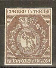 ESPAÑA 1853 ESCUDO DE MADRID EDIFIL  23**  FALSO