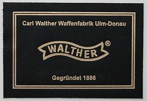 PISTOL GUN PRESENTATION CUSTOM DISPLAY CASE BOX LABEL for WALTHER p38 pp ppk p1