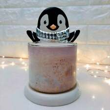 Holiday Penguin 3-Wick Candle Holder | Christmas Lights | Whimsical | Party |