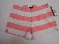 Tommy Hilfiger NEW $35 Youth Girls Shorts Pink Wide Stripes Size 12