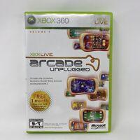Xbox Live Arcade Unplugged Volume 1 (Microsoft Xbox 360, 2006) Complete