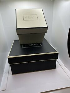 Jo Malone London 2 EMPTY Gift Boxes Ivory Black