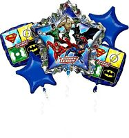 Anagram JUSTICE LEAGUE Foil Balloon Bouquet 5 Balloons