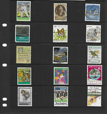 New Zealand  3 pages  mix collection stamps