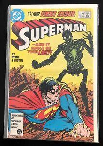 Superman #1 NM- First Issue (DC, 1987) Byrne, Austin