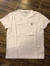 Polo Ralph Lauren Men's Small V-Neck T-Shirt White New in Box