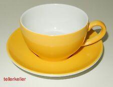 Dibbern Solid Color Kaffeetasse + Untertasse Sonnengelb Ø 9,5 / H 5,5