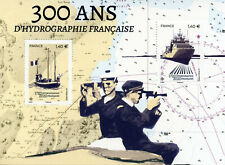 France Ships Stamps 2020 MNH French Hydrography SHOM Boats Nautical 2v M/S