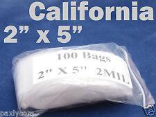 "100 x Reclosable 2"" x 5"" Zip Lock Mini Clear Bags Jewelry Coin Ziplock 5 x 13 cm"